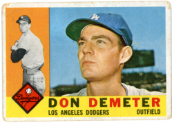 1960 Topps | Don Demeter | Los Angeles Dodgers | Baseballisms.com