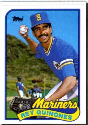 1989 Mariners | Rey Quinones | Seattle Mariners | Baseballisms.com