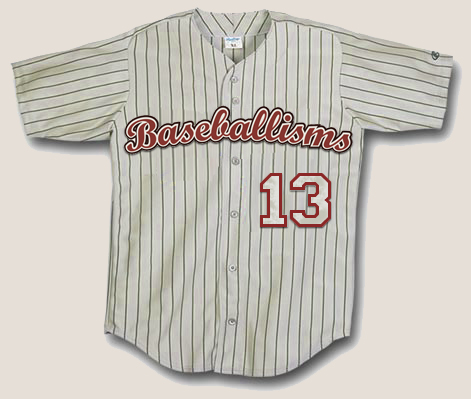 Official Baseballisms Game Jersey #13 | Baseballisms.com