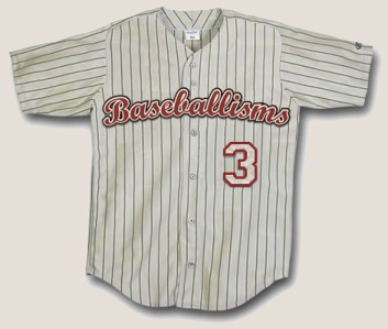 Baseballisms Authentic Game Jersey | Number 3 | Baseballisms.com