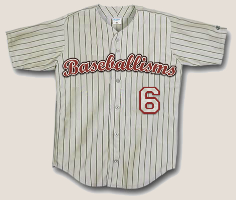 Baseballisms Official Game Jersey #6 | Baseballisms.com
