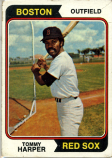 1974 Topps | Tommy Harper | Boston Red Sox | Baseballisms.com