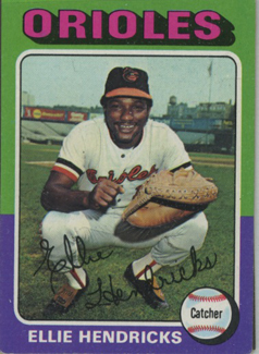 Topps 1975 Baseball Card | Ellie Hendricks | Baltimore Orioles | Baseballisms.com
