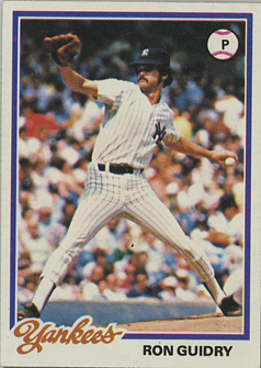 Ron Guidry Topps 1978