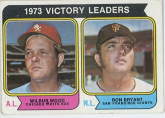 Topps 1974 Baseball Card | 1973 MLB Victory Leaders