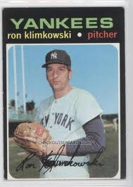 Topps 1971 Baseball Card | Ron Klemkowki | New York Yankees | Baseballisms.com