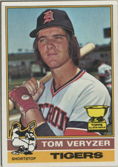 Topps 1976 Baseball Card | Tom Veryzer | Detroit Tigers | Baseballisms.com