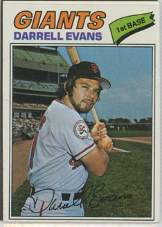 Topps 1977 Baseball Card | Darrell Evans | San Francisco Giants | Baseballisms.com
