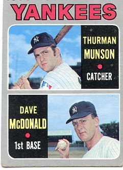 Topps 1970 Baseball Card | Thurman Munson | New York Yankees | Baseballisms.com