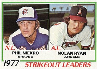 Topps 1978 Baseball Card | Phil Neikro and Nolan Ryan | Baseballisms.com