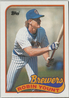 Topps 1989 Baseball Card | Robin Yount | Milwaukee Brewers | Baseballisms.com