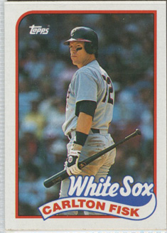 Topps 1989 Baseball Card | Carlton Fisk | Chicago White Sox | Baseballisms.com
