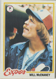 Topps 1978 Baseball Card | Will McEnaney | Montreal Expos | Baseballisms.com