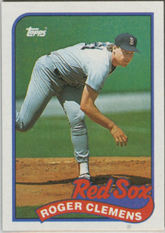 Topps 1989 Baseball Card | Roger Clemens | Boston Red Sox | Baseballisms.com