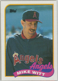 Topps 1989 Baseball Card | Mike Witt | California Angels | Baseballisms.com
