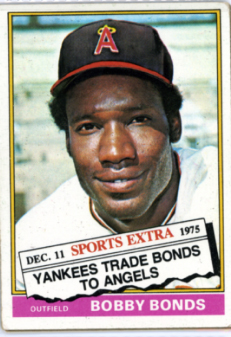 Topps 1976 Baseball Card | Bobby Bonds | California Angels | Baseballisms.com