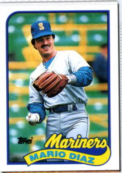 Topps 1989 Baseball Card | Mario Diaz | Seattle Mariners | Baseballisms.com