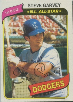 Topps 1980 Baseball Card | Steve Garvey | Los Angeles Dodgers | Baseballisms.com