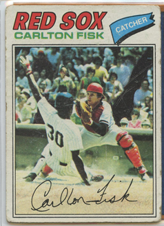 Topps 1977 Baseball Card | Carlton Fisk | Boston Red Sox | Baseballisms.com