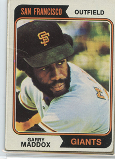 Topps 1974 Baseball Card | Garry Maddox | San Francisco Giants | Baseballisms.com