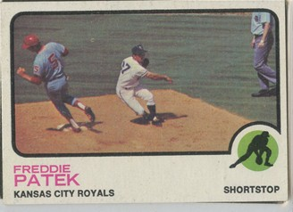 Topps 1973 Baseball Card | Freddie Patek | Kansas City Royals | Baseballisms.com