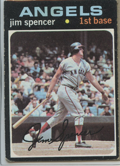 Topps 1971 Baseball Card | Jim Spencer | California Angels | Baseballisms.com