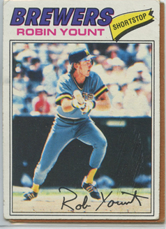 Topps 1977 Baseball Card | Robin Yount | Milwaukee Brewers | Baseballisms.com