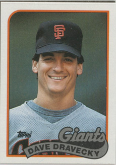 Topps 1989 Baseball Card | Dave Dravecky | San Francisco Giants | Baseballisms.com