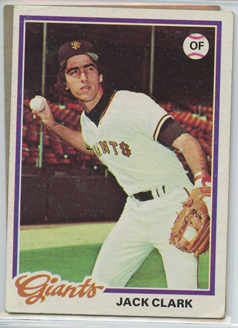 Topps 1978 Baseball Card | Jack Clark | San Francisco Giants | Baseballisms.com