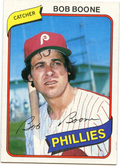 Topps 1980 Baseball Card | Bob Boone | Philadelphia Phillies | Baseballisms.com