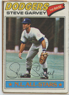 Topps 1977 Baseball Card | Steve Garvey | Los Angeles Dodgers | Baseballisms.com