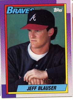 Topps 1990 Baseball Card | Jeff Blauser | Atlanta Braves | Baseballisms.com
