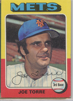 Topps 1975 Baseball Card | Joe Torre | New York Mets | Baseballisms.com