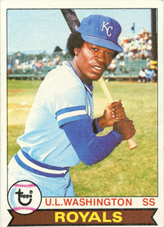 Topps 1979 Baseball Card | UL Washington | Kansas City Royals | Baseballisms.com