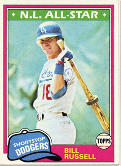 Topps 1981 Baseball Card | Bill Russell | Los Angeles Dodgers | Baseballisms.com