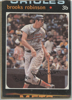 Topps 1971 Baseball Card | Brooks Robinson | Baltimore Orioles  | Baseballisms.com