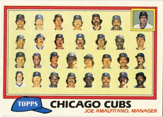 Topps 1981 Baseball Card | Chicago Cubs | Baseballisms.com