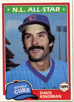Topps 1981 Baseball Card | Dave Kingman | Chicago Cubs | Baseballisms.com