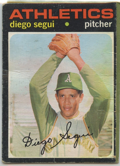 Topps 1971 Baseball Card | Diego Segui | Oakland Athletics | Baseballisms.com