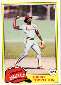 Topps 1981 Baseball Card | Garry Templeton | St Louis Cardinals | Baseballisms.com