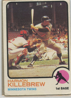 Topps 1973 Baseball Card | Harmon Killebrew | Minnesota Twins | Baseballisms.com