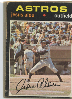Topps 1971 Baseball Card | Jesus Alou | Houston Astros | Baseballisms.com