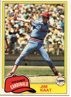 Topps 1981 Baseball Card | Jim Kaat | St Louis Cardinals | Baseballisms.com