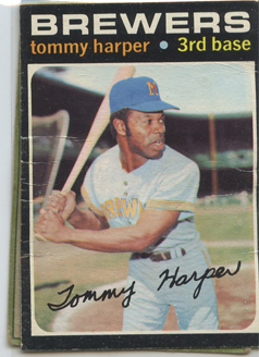 Topps 1971 Baseball Card | Tommy Harper | Milwaukee Brewers | Baseballisms.com