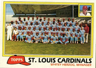 Topps 1981 Baseball Card | St Louis Cardinals | Baseballisms.com