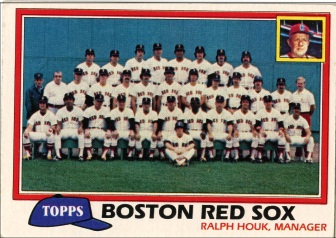 Topps 1981 Baseball Card | Boston Red Sox Team Photo | Baseballisms.com