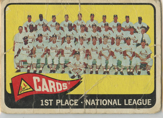 Topps 1965 Baseball Card | St Louis Cardinals | Baseballisms.com
