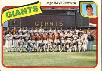 Topps 1980 Baseball Card | San Francisco Giants | Baseballisms.com