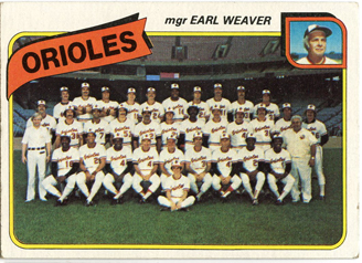 Topps 1980 Baseball Card | Baltimore Orioles | Baseballisms.com