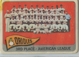 Topps 1965 Baseball Card | Baltimore Orioles | Baseballisms.com